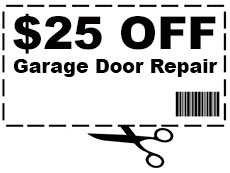 25$ off any garage door repair in Crowley